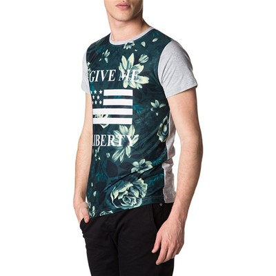 American People acelin - t-shirt manches courtes - gris chine