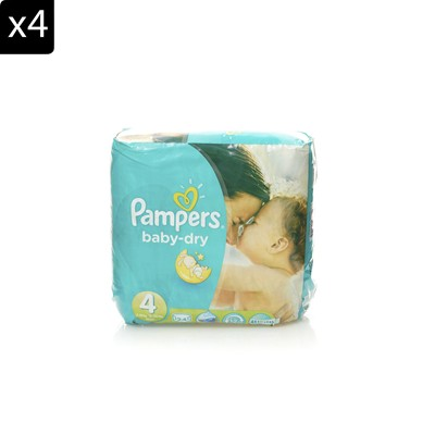 Baby Dry - 4 Packs de 24 couches - T4 7-18 kg