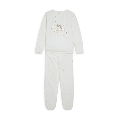 MONOPRIX KIDS Ensemble t-shirt et pantalon - blanc