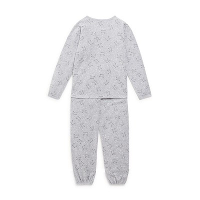 MONOPRIX KIDS Ensemble t-shirt et pantalon - gris chine
