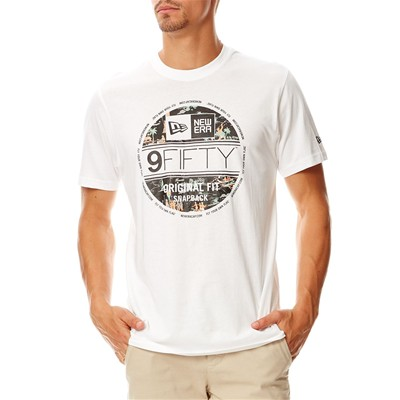 NEW ERA Offshore - T-shirt en coton - blanc