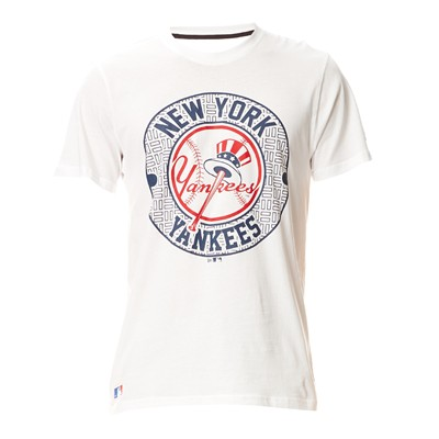 NEW ERA Yankees - T-shirt en coton mélangé - blanc