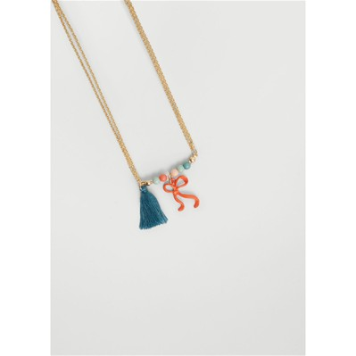 MANGO KIDS Collier fantaisie - orange