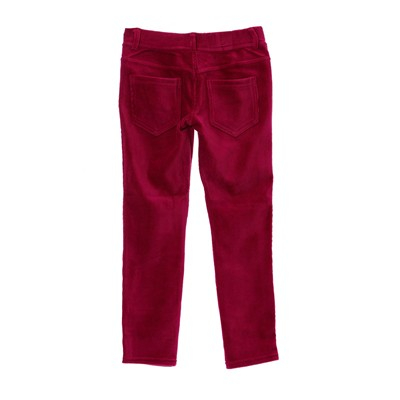 BENETTON Legging en velours côtelé - rose