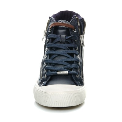PEPE JEANS FOOTWEAR Brother Zip - Baskets montantes - bleu marine