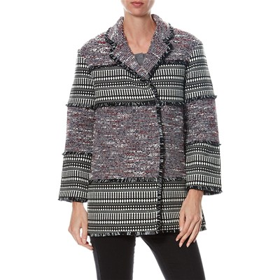 Cappotto Etnica Stampa Con French Bicolore Connection 5nqfxT