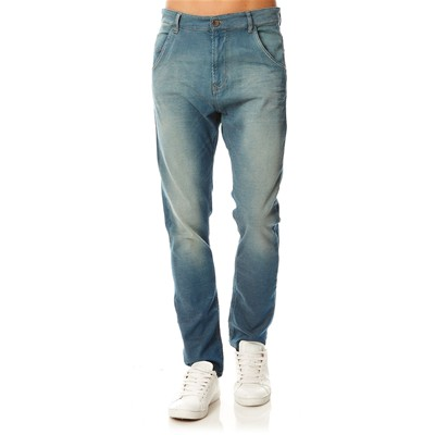 BENETTON Pantalon slim low crotch - bleu
