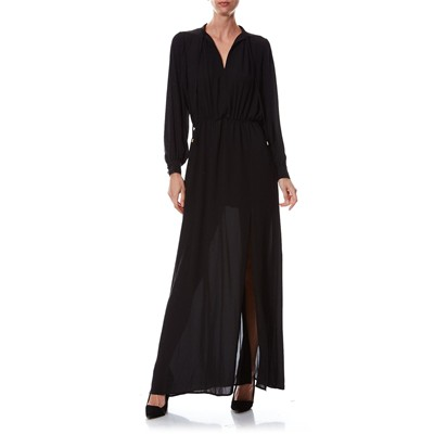 PEPE JEANS LONDON Betty - Robe longue façon djellaba - noir