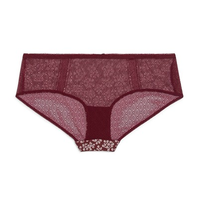 MONOPRIX Shorty en coton modal - bordeaux