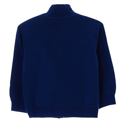 BENETTON Sweat zippé en coton - bleu