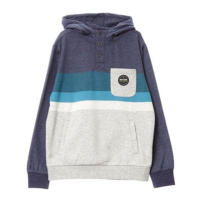 RIP CURL Crocker Hooded Fleece - Sweat à capuche en coton mélangé - bleu