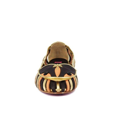 PRING PARIS Owl - Ballerines en cuir - marron