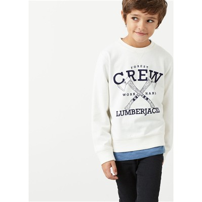 MANGO KIDS Sweat-shirt - blanc