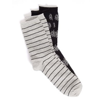 SOMEWHERE Gotanda - Lot de 2 paires de chaussettes - bicolore