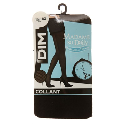 Madame so Daily - Collant losanges - noir