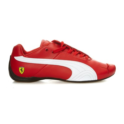 Ferrari - Baskets en cuir - rouge