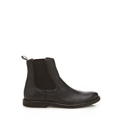 GUESS Bottines en cuir - noir