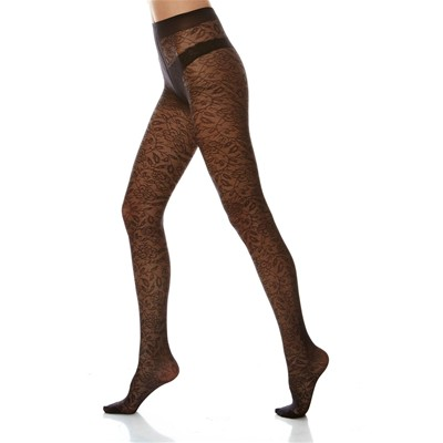 DIM COLLANT Madame so Chic - Collant dentelle Chic - noir