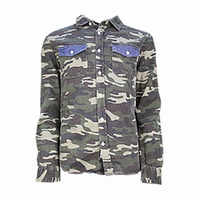 SOULSTAR MS CAMO DENIM - Chemise - denim bleu