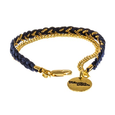 Billy - Bracelet en plaqué or - bleu marine