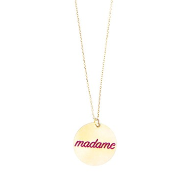 Madame - Collier en or - bordeaux