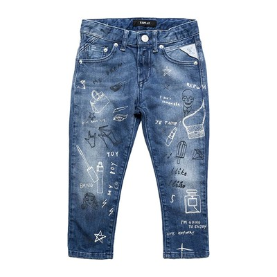 Replay and Sons Jean recto - denim azul