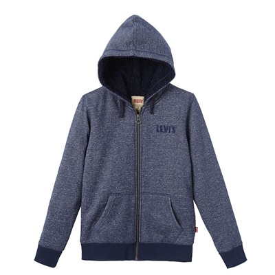 LEVI'S KIDS Clement - Sweat à capuche fourré - bleu marine
