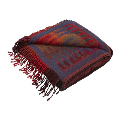 MADURA Khan - Plaid en laine - multicolore