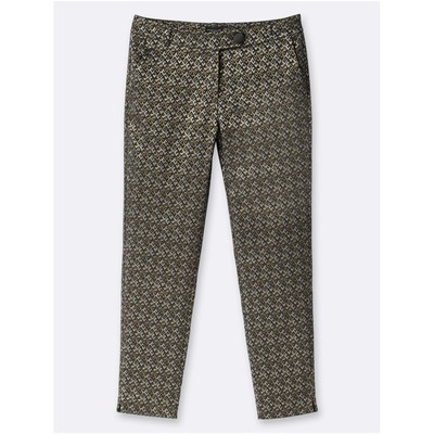 Pantalon coupe cigarette - ocre