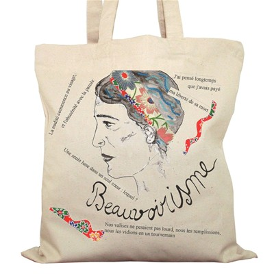 Simone de Beauvoir - Sac à main - ecru