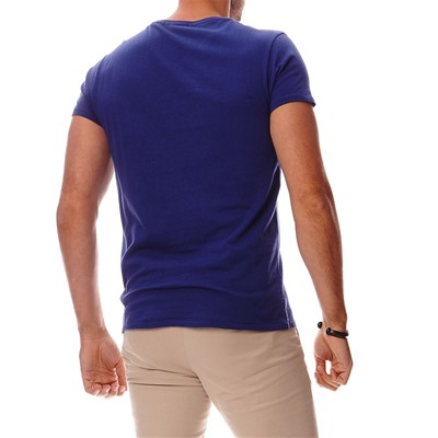 SCOTCH & SODA T-shirt en coton - bleu marine