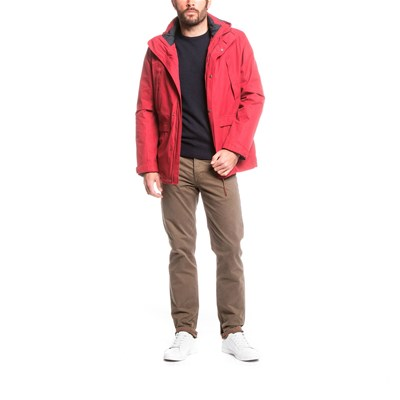 AIGLE Woodfield - Parka 3 en 1 - bordeaux