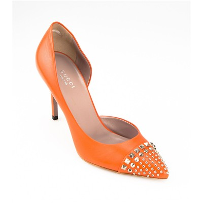 Escarpins en cuir - orange