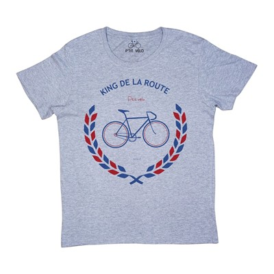 P'TIT VÉLO King de la route - T-shirt - gris chine