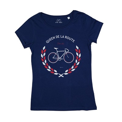 Queen de la Route - T-shirt - bleu marine