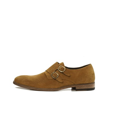 Derbies en cuir - moutarde