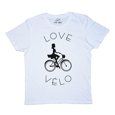 Love Vélo - T-shirt - blanc