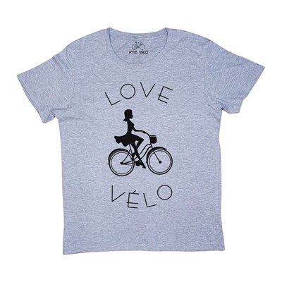 Love Vélo - T-shirt - gris chine