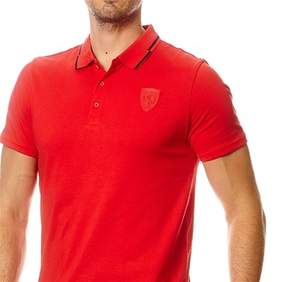PUMA Text Hom - Polo - rouge