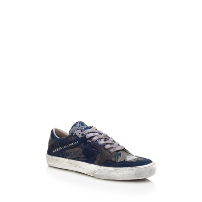 GUESS Baskets en cuir - bleu