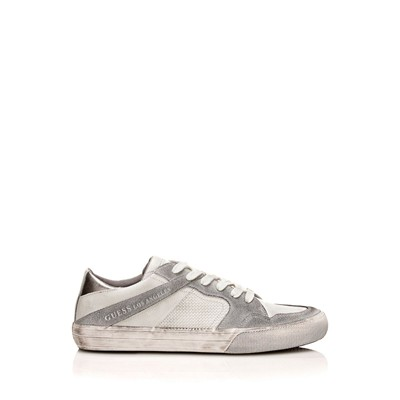 GUESS Baskets en cuir - blanc