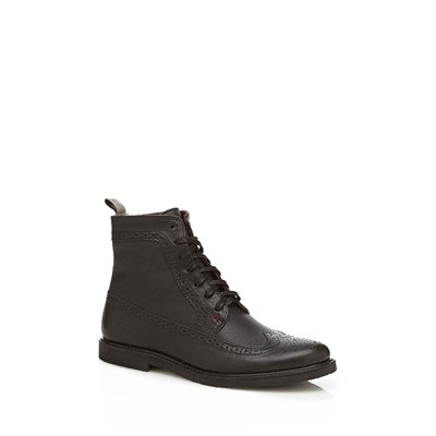 GUESS Bastian - Bottines en cuir - noir