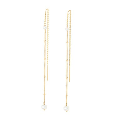 Yay You are young stella - boucles d'oreilles en plaqué or - blanc