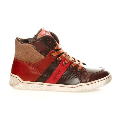 KICKERS Wincut - Baskets en cuir - marron