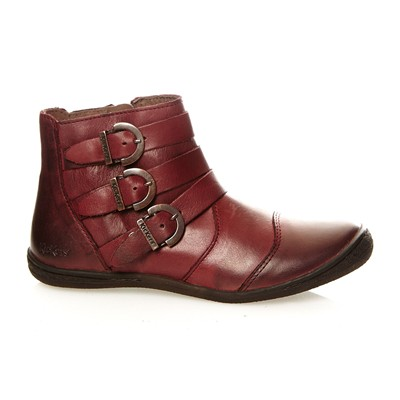 KICKERS Calin - Boots en cuir - bordeaux