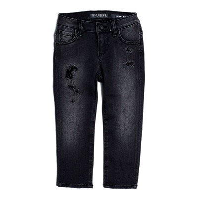 GUESS KIDS Jean droit - denim noir