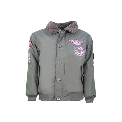 MJ Goose Badge - Bombers - kaki