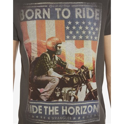 WRANGLER Born To Ride - T-shirt - anthracite