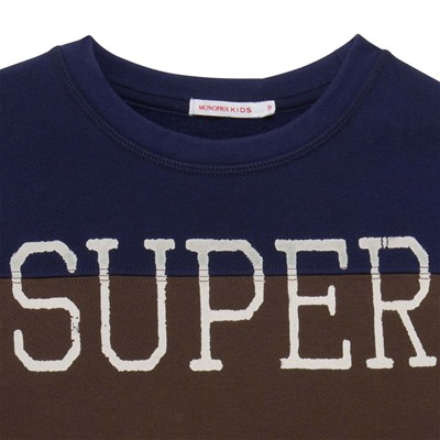 MONOPRIX KIDS Sweat-shirt - bicolore