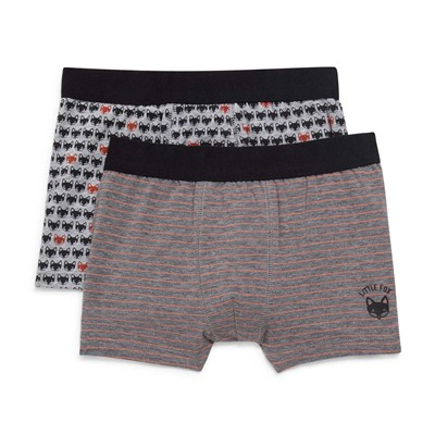 MONOPRIX KIDS Lot de 2 boxers - anthracite